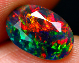 TOP 1.44ct Natural Ethiopian Welo Black Opal (Smoked Treated)