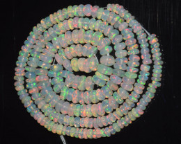 42.85 Ct Natural Ethiopian Welo Opal Beads Play Of Color