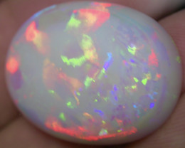 42.3ct EXTR BRIGHT HIGH QUALITY MULTI PATERN RAINBOW COLORS OVAL  OPAL