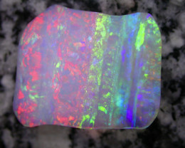 43.9ct DOUBLE SIDED VERY RARE MULTI PATERN EXTR BRIGHT CRYSTAL OPAL