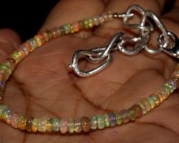 17 Crts Natural Ethiopian Welo Fire Opal Beads Bracelet 92