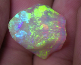 14.6ct DOUBLE SIDED MULTI PATERN FULLY SATURATED CRYSTAL OPAL