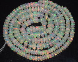 45.55 Ct Natural Ethiopian Welo Opal Beads Play Of Color