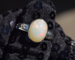 ETHIOPIAN OPAL RING 925 STERLING SILVER JE1389