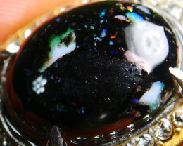 63.30 CT Beautiful Indonesian Rainbow Opal Ring Jewelry