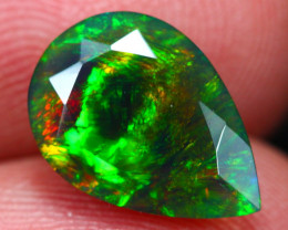 2.36Ct Botanic Chaff Fire Ethiopian Welo Black Smoked Faceted Opal~D23/12