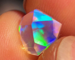 Freeform Faceted Mexican 2.110ct Crystal Opal (OM)