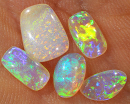 Small 5pcs 1.8ct Crystal Pipe Boulder Opal Parcel [LOB-2311]