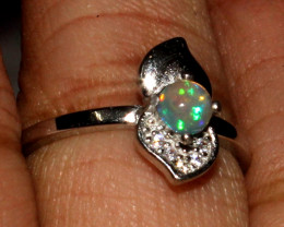 Natural Ethiopian Welo Fire Opal 925 Silver Ring Size ( 5.5 US) 67