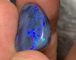 13.63 Carats of Solid/Natural Lightning Ridge Rub Dark/Black Opal # 024