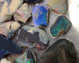 225 Carats of Solid/Natural Lightning Ridge Rough Black /Dark Opal, #031
