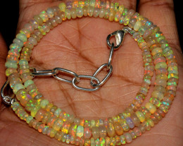 41 Crts Natural Ethiopian Welo Fire Opal Beads Necklace 31