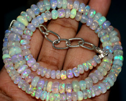 78 Crts Natural Ethiopian Welo Fire Opal Beads Necklace 33