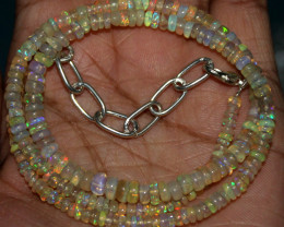 39 Crts Natural Ethiopian Welo Fire Opal Beads Necklace 38