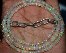 40 Crts Natural Ethiopian Welo Fire Opal Beads Necklace 39
