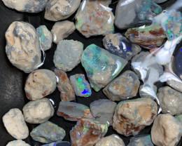 750 Carats of Solid/Natural Lightning Ridge Rough Black /Dark Opal, #049