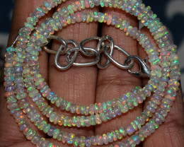 31 Crts Natural Ethiopian Welo Fire Opal Beads Necklace 127