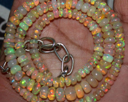 65 Crts Natural Ethiopian Welo Fire Opal Beads Necklace 131
