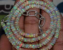 47 Crts Natural Ethiopian Welo Fire Opal Beads Necklace 139