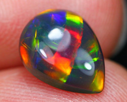 1.63Ct Stunned Block Pattern Ethiopian Welo Smoked Opal C0410