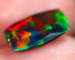 1.49Ct Multi Color Ethiopian Welo Smoked Faceted Opal FC16