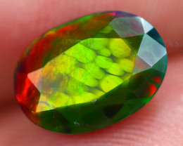 1.57Ct Multi Color Ethiopian Welo Smoked Faceted Opal FC21