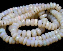 80CTS  COOBER PEDY WHITE OPAL BEADS FACETED  TBO-934