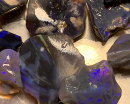 284 Carats of Solid/Natural Lightning Ridge Rough Black /Dark Opal, #052