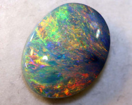N 4-3.10 CTS QUALITY BLACK OPAL POLISHED STONE INV-1096