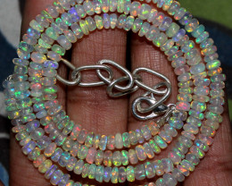 45 Crts Natural Ethiopian Welo Fire Opal Beads Necklace 184