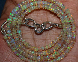 34 Crts Natural Ethiopian Welo Fire Opal Beads Necklace 193