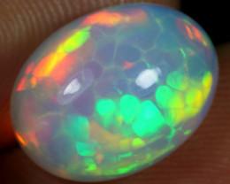 AAA 5.20cts Rainbow Cell Honeycomb Ethiopian Opal