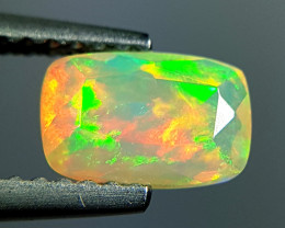 0.68 ct Ultra Fire Fantastic Cushion Cut Natural Ethiopian Fire Opal