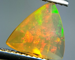 0.98 ct Play of Fire Triangle Cut Natural Ethiopian Fire Opal