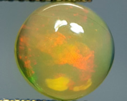 1.40 ct Excellent Fire Rare Round Cabochon Natural Fire Opal