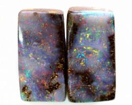 14.05cts Australian Boulder Opal Pair  C-158