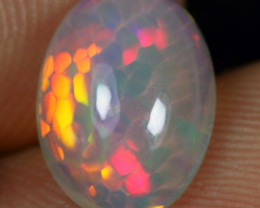 2.30cts Rare Feather And Cell Honeycomb Pattern Ethiopian Opal