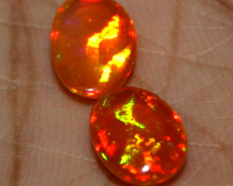 3 Crt Natural Ethiopian Welo Fire Opal Cabochon 2 Pieces Lot 108