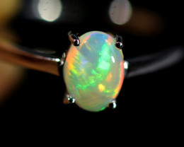 7.5 SIZE SOLID  FIRE  OPAL  STONE IN 10 K GOLD RING [SOJ6604]