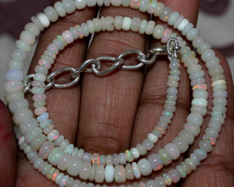 36 Crt Natural Ethiopian Welo Fire Opal Beads Necklace 109