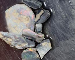 81.3 Carats of Solid/Natural Lightning Ridge Rough Black /Dark Opal, #100