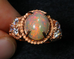 17.55cts Welo Opal 925 Sterling Silver Ring US4