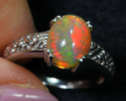 15.03cts Welo Opal 925 Sterling Silver Ring US7.25