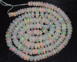 47.45 Ct Natural Ethiopian Welo Opal Beads Play Of Color