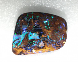 20ct Australian Boulder Opal Koroit Electric Flashes Polished