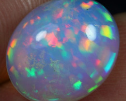 FREE SHIPPING 5/5 4.80cts Rainbow Confetti Pattern Ethiopian Opal