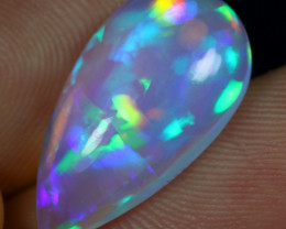 AAA 5.30cts Blue and Rainbow 3D Confetti Ethiopian Opal