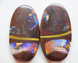150.80CTS RARE COLLECTOR PAIR OF  QUEENSLAND  BOULDER OPAL TB110