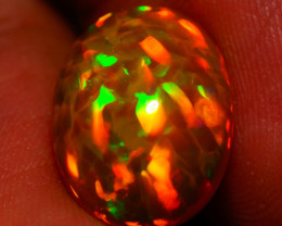 4.29 CT BROWN BASE !! HONEYCOMB PATTERN  TOP Quality Welo Ethiopian Opal -