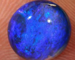 3.35ct 9.5x9mm Solid Lightning Ridge Dark Crystal Opal [LO-1392]